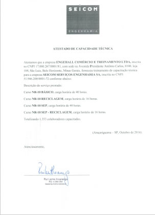 Atestados e Certificações 10
