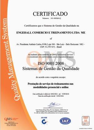 Atestados e Certificações Engehall 4